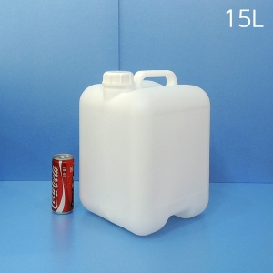 15L 말통 반투명 [낱개]사각말통 소스통 액젓통 간장통 석유통 약수통(IS)