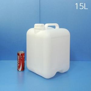 15L 말통 반투명 [5개묶음]사각말통 소스통 액젓통 간장통 석유통 약수통(IS)